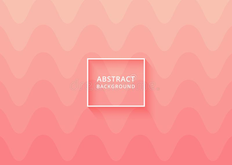 Abstract soft pink wavy background modern fun minimalist background texture design. Illustration for web background template, social media post background, soft royalty free illustration