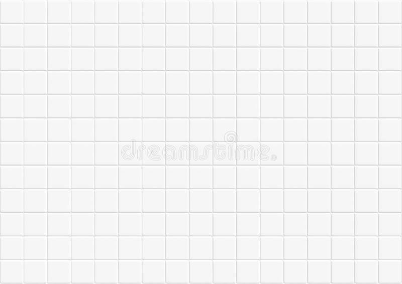 Modern abstract white concrete tile wall background and texture. square ceramic mosaic cube pattern for business high resolution. Modern abstract white concrete stock illustration