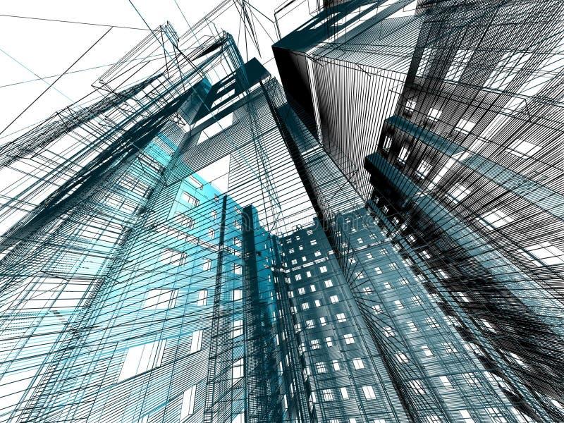 modern abstrakt arkitektur stock illustrationer