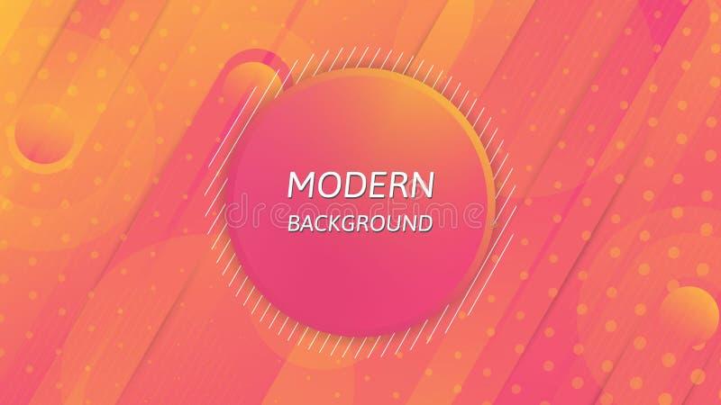 Modern abstrakt bakgrund, färgglad tapetdesign stock illustrationer