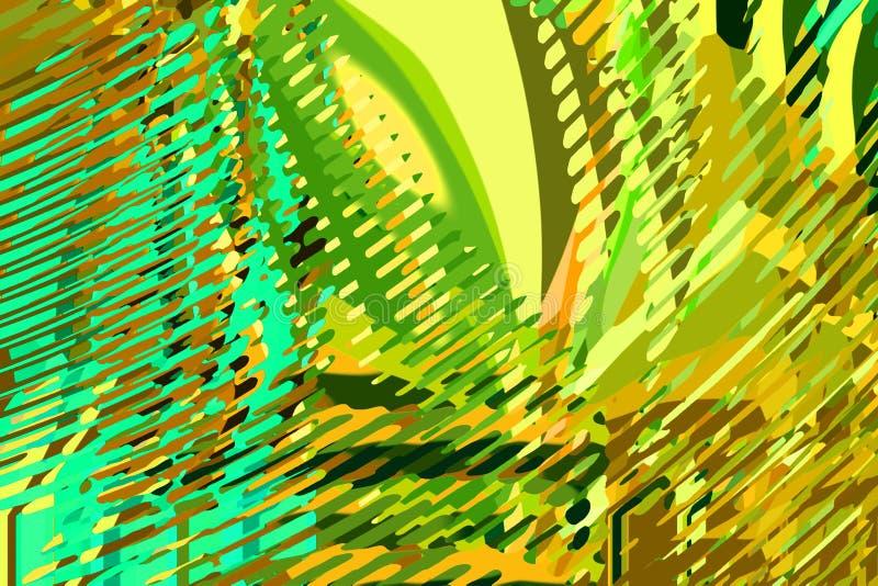modern abstrakt bakgrund Idérika färgrika former och former geometrisk modell Grön, blå och gul ljus grafisk textur royaltyfria foton