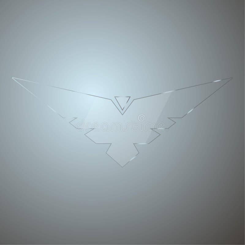 Modern abstrakt bakgrund med genomskinligt exponeringsglas vektor illustrationer