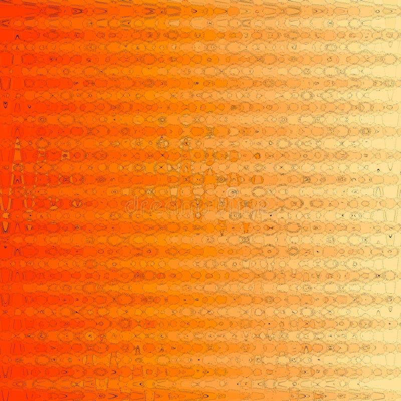 Modern abstrakt begreppräkningsuppsättning Den kalla orange lutningen formar sammansättning royaltyfri illustrationer