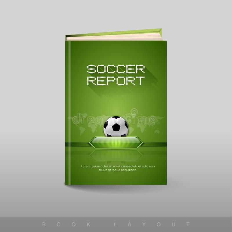 Modern abstrakt broschyr som boken Fotbolltema vektor illustrationer