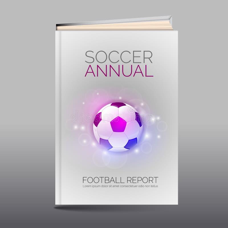 Modern abstrakt broschyr som boken Fotbolltema royaltyfri illustrationer