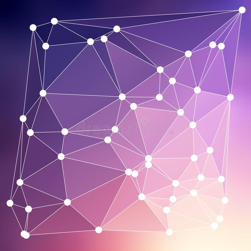 Modern abstrakt effekt glödande light54 för bakgrundstrianglar 3d vektor illustrationer