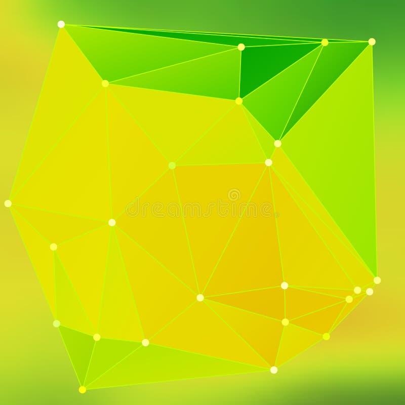 Modern abstrakt effekt glödande light97 för bakgrundstrianglar 3d royaltyfri illustrationer