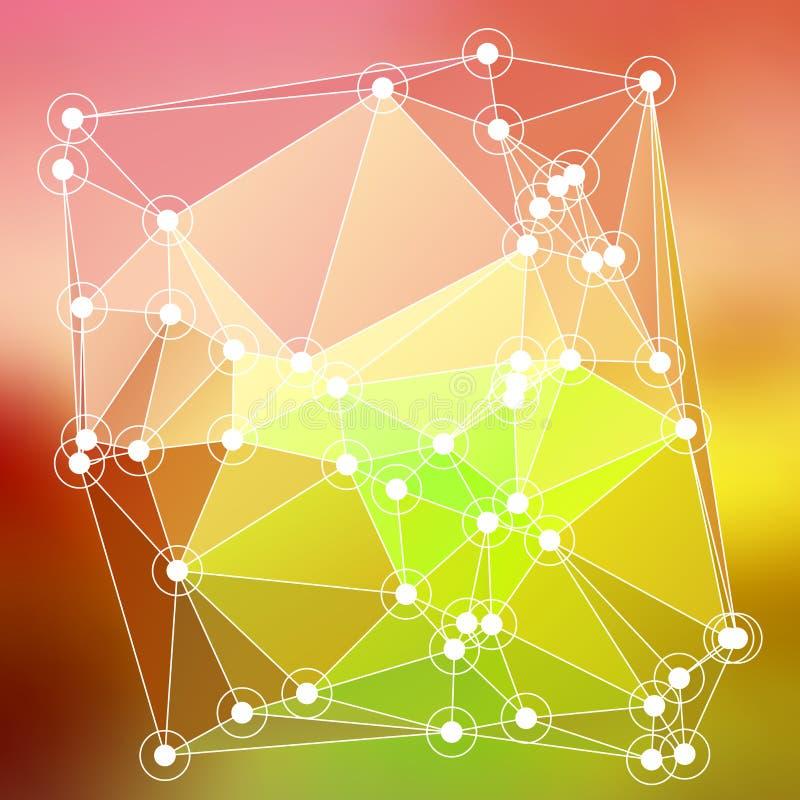 Modern abstrakt effekt glödande light74 för bakgrundstrianglar 3d vektor illustrationer