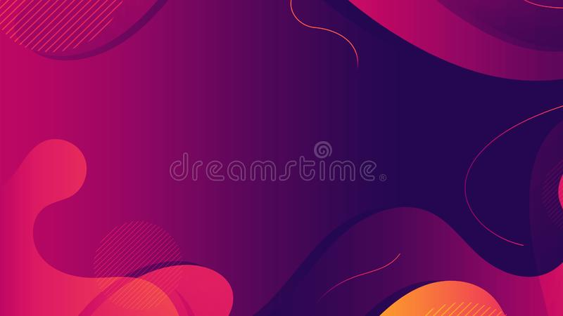 Modern abstrakt f?rgrik geometrisk bakgrund Former med moderiktig lutningsammans?ttning royaltyfri illustrationer