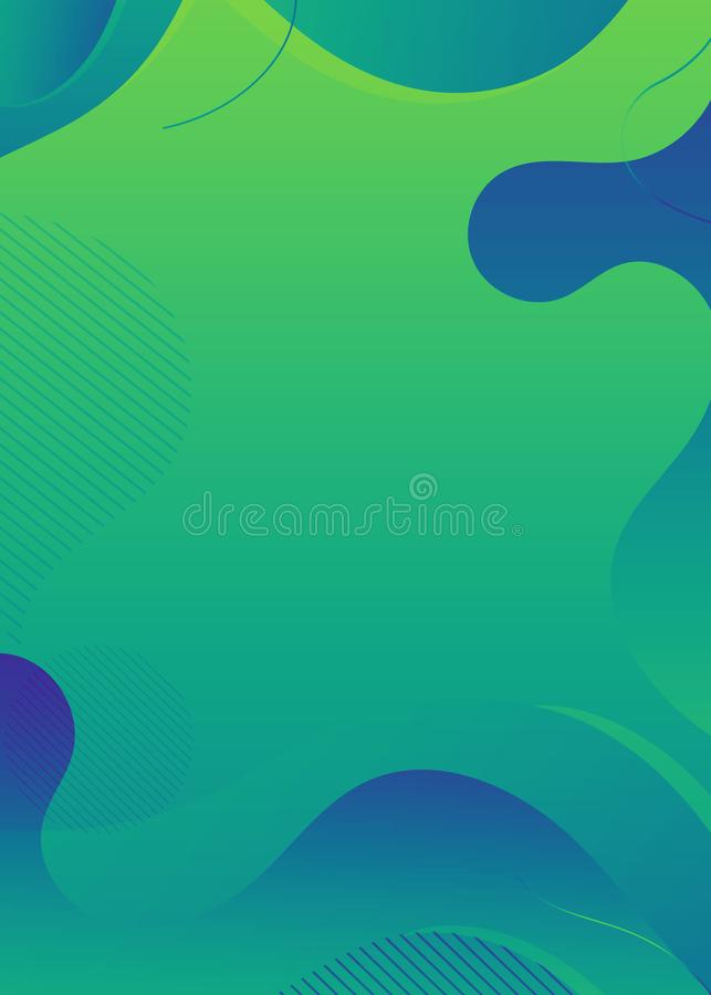 Modern abstrakt f?rgrik geometrisk bakgrund Former med moderiktig lutningsammans?ttning vektor illustrationer