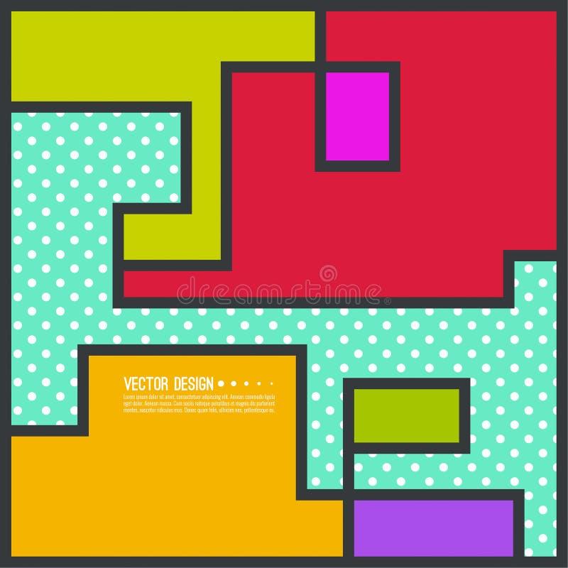 Modern abstrakt geometrisk bakgrund royaltyfri illustrationer