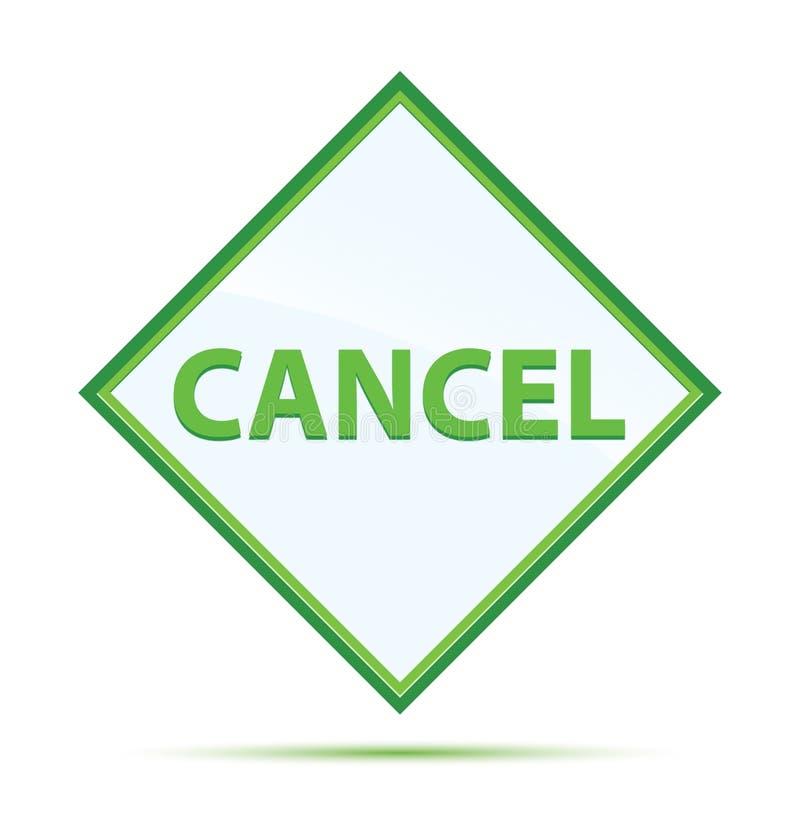 Modern abstrakt grön diamantknapp för annullering stock illustrationer