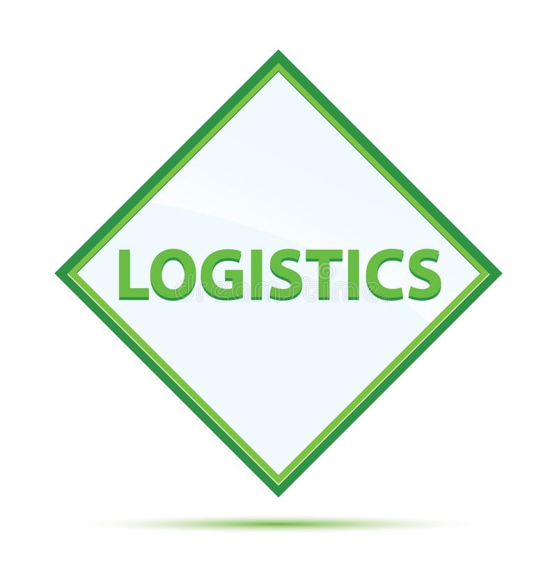 Modern abstrakt grön diamantknapp för logistik stock illustrationer