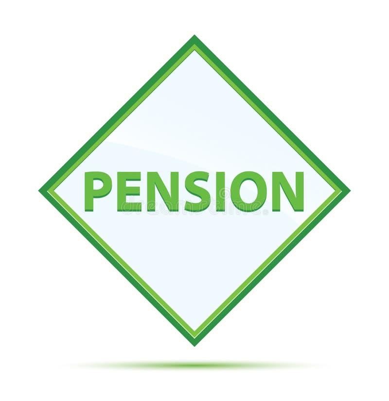 Modern abstrakt grön diamantknapp för pension stock illustrationer