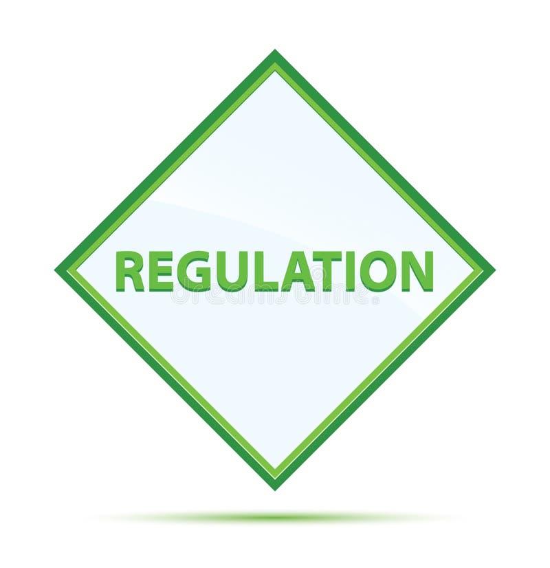 Modern abstrakt grön diamantknapp för reglering stock illustrationer