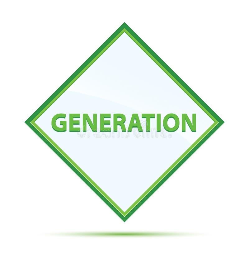 Modern abstrakt grön diamantknapp för utveckling royaltyfri illustrationer
