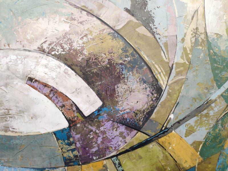Modern abstrakt konst för bakgrund eller för begrepp, färgglade band royaltyfria foton