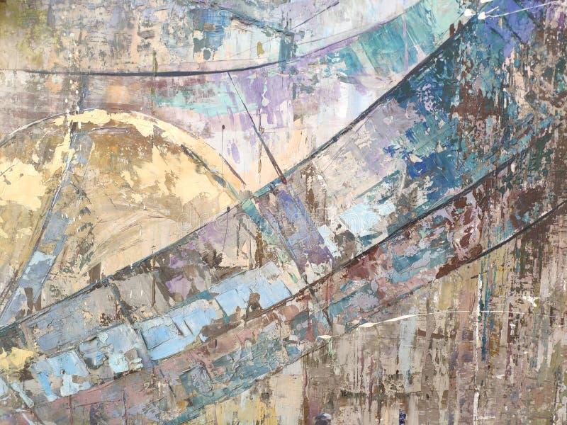 Modern abstrakt konst f?r bakgrund eller f?r begrepp, f?rgglade band arkivfoton