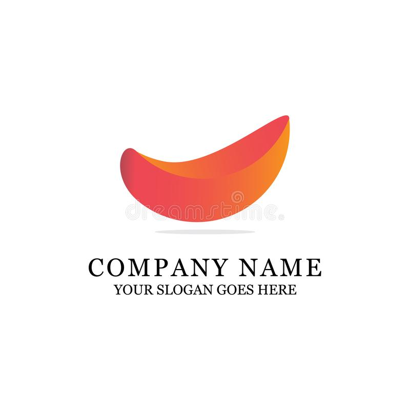 Modern abstrakt logodesign, orange lutning royaltyfri illustrationer