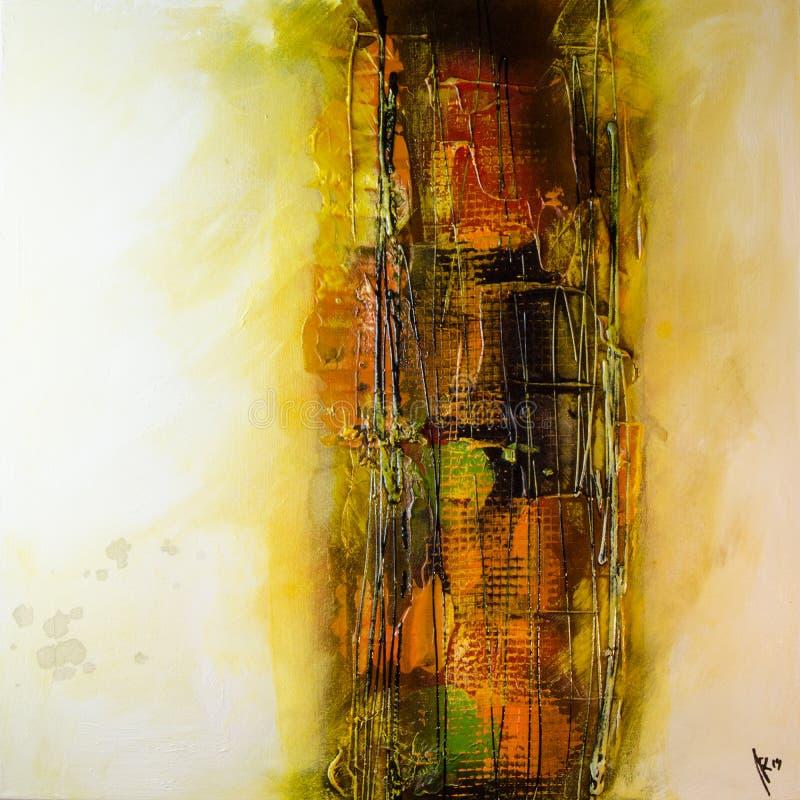 Modern abstrakt målningkonstartprint royaltyfria bilder