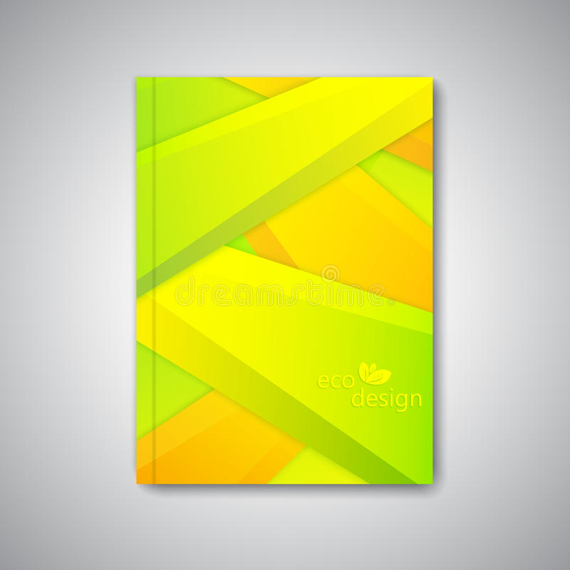 Modern abstrakt mallorientering för broschyr stock illustrationer