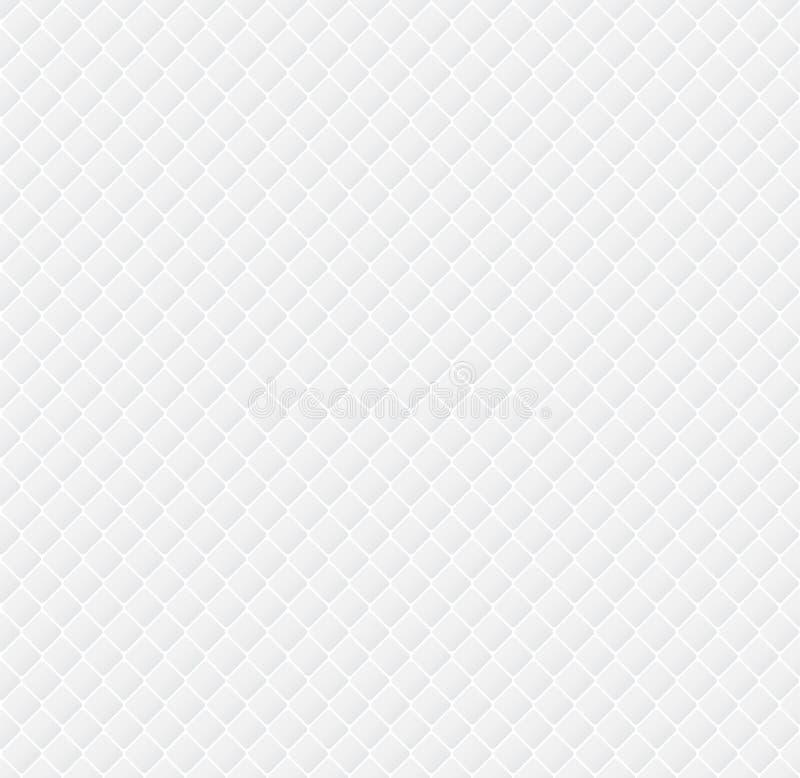 Modern abstrakt randig fyrkantmodellrepetition på vita färglodisar vektor illustrationer