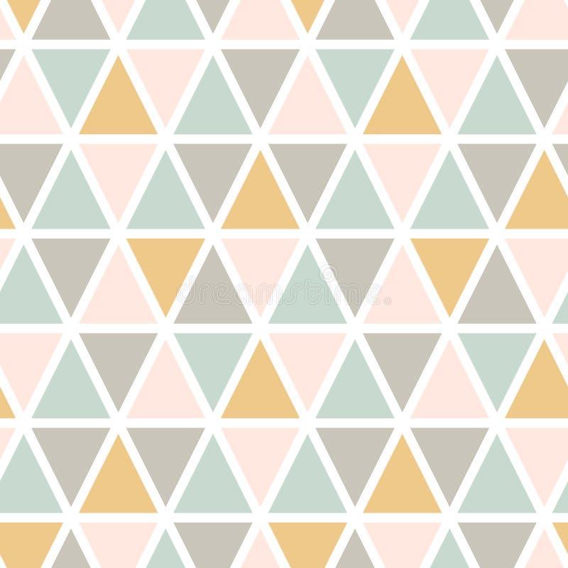 Modern abstrakt sömlös triangelmodell royaltyfri illustrationer