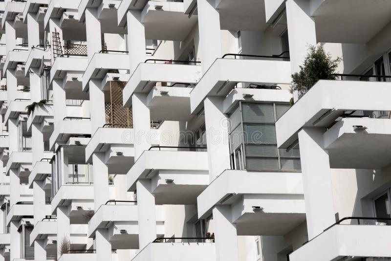 Modern accomodation in city stock image