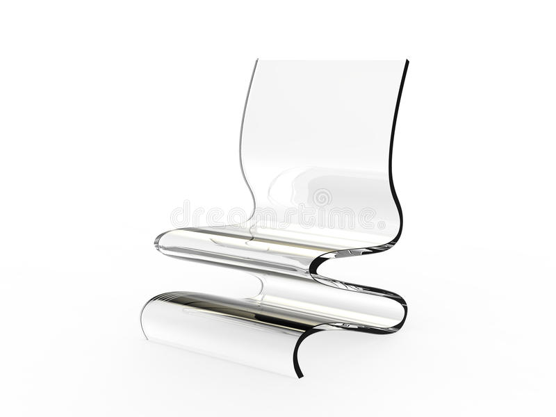 Modern Acrylic Chair 2 stock illustration