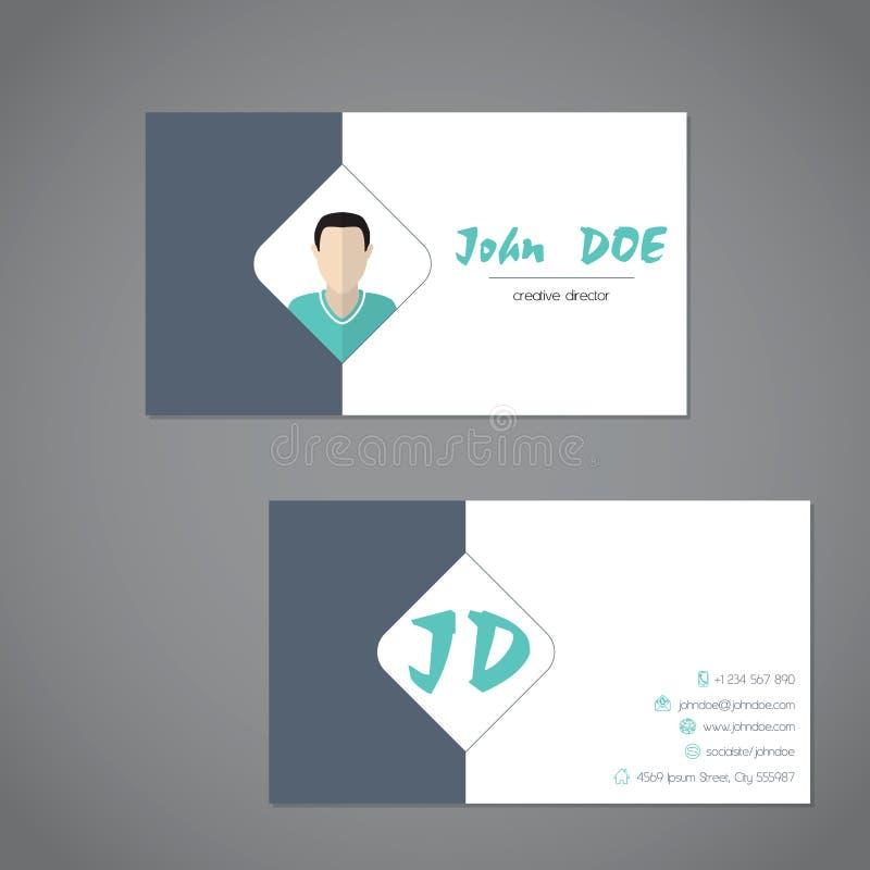 Modern adreskaartje met simplistische presentatie stock illustratie