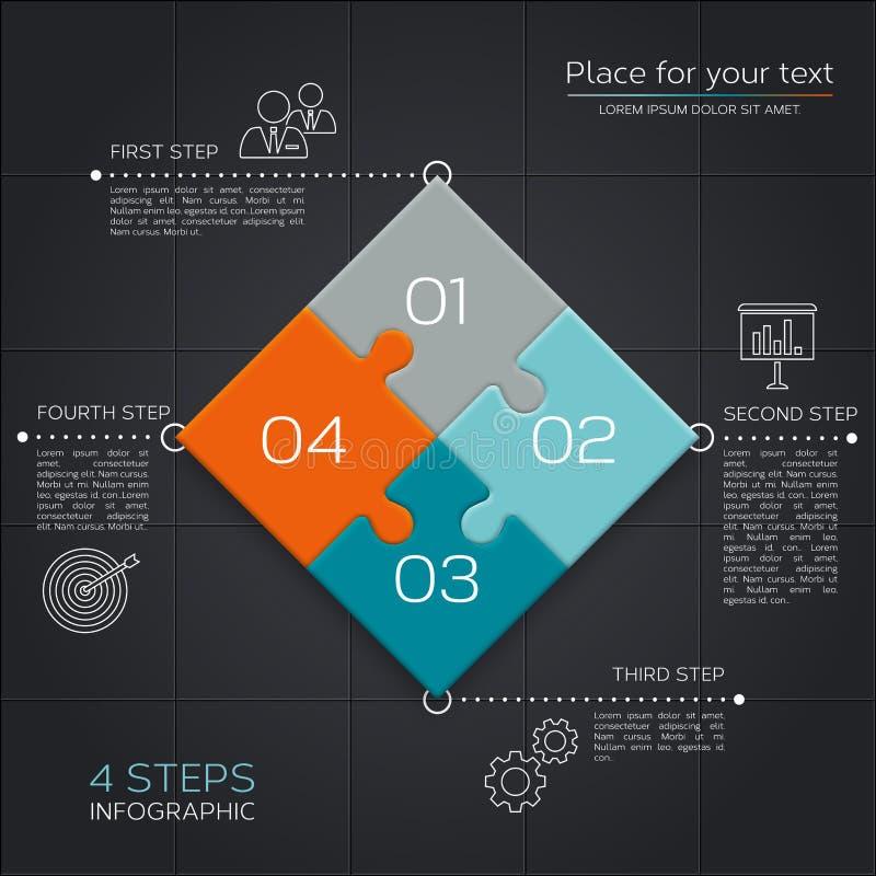 Modern affär som är infographic för din presentation royaltyfri illustrationer