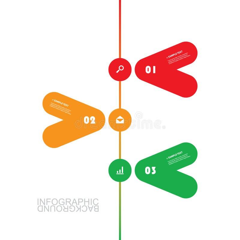 Modern affärsInfographic mall - minsta Timelinedesign stock illustrationer