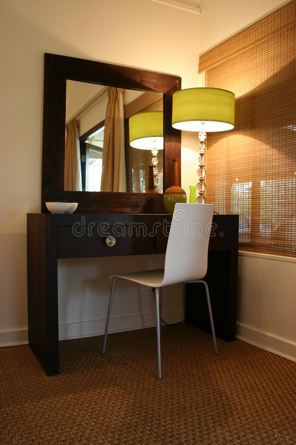 Modern African Interior Bedroom Dressing Table Stock Photo - Image ...
