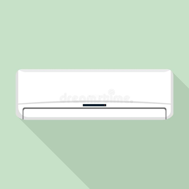 Modern air conditioner icon, flat style. Modern air conditioner icon. Flat illustration of modern air conditioner vector icon for web design royalty free illustration