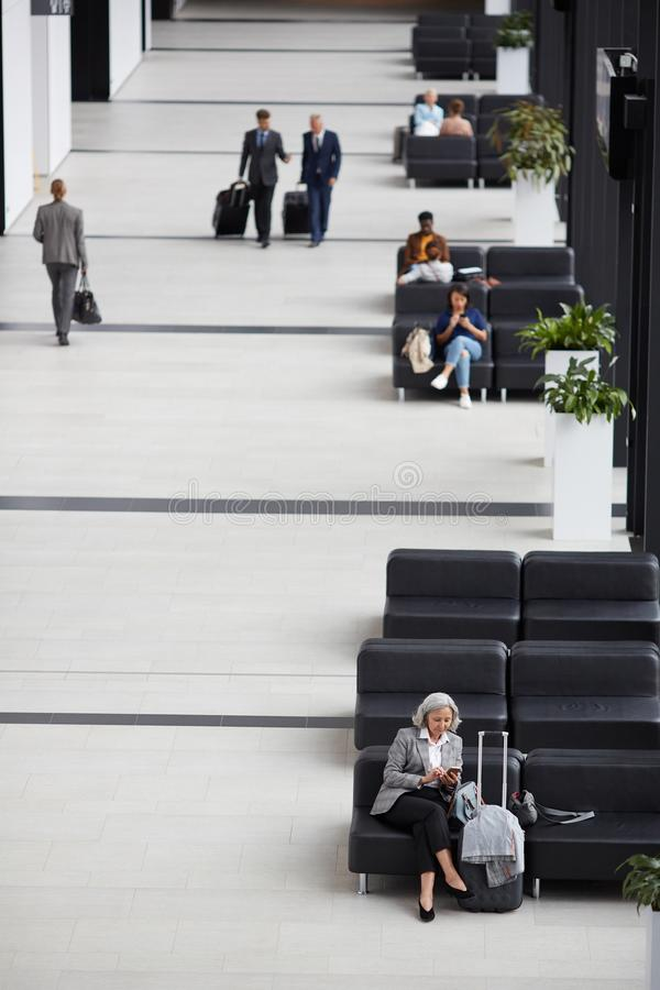 Modern airport waiting room royalty free stock photos