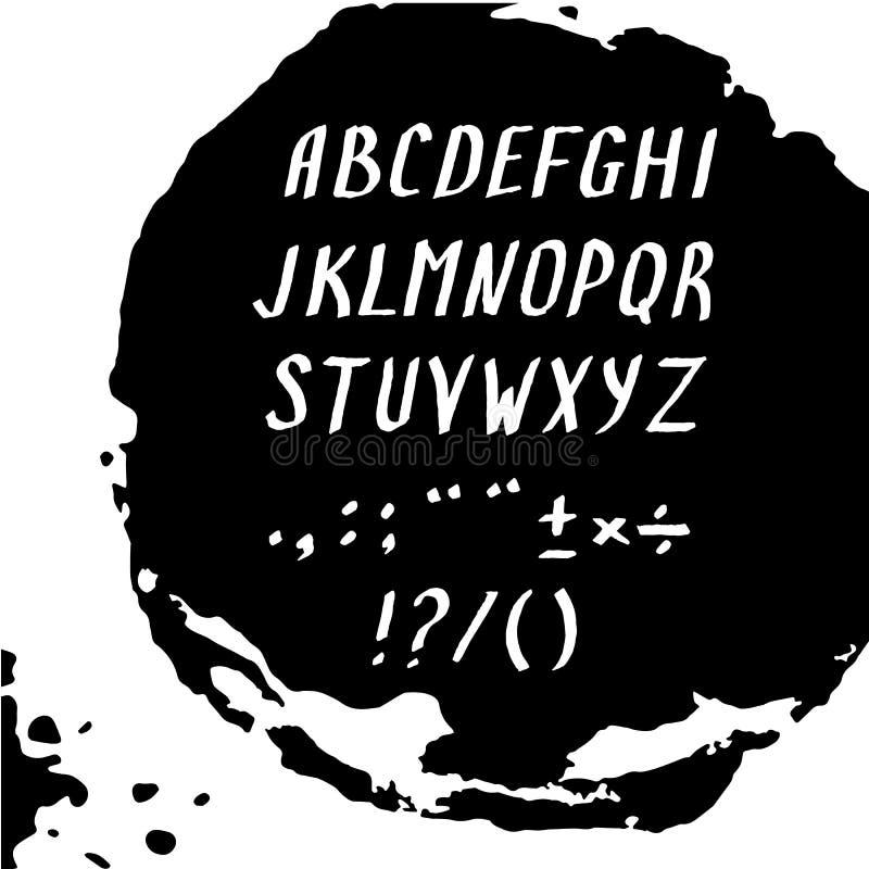 Modern alphabet letters. stock illustration