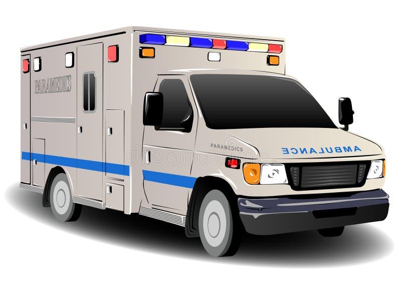 Modern Ambulance Illustration. Over White stock illustration