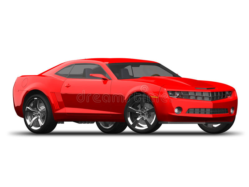 Modern American Muscle Car Stock Illustration