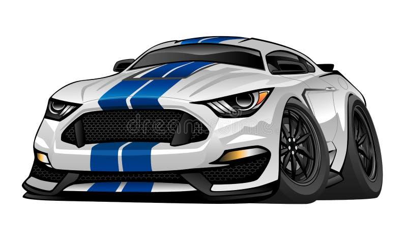 Modern American Muscle Sports Car Illustration royalty free illustration