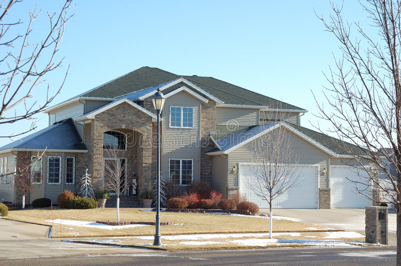 Modern Amerikaans huis. royalty-vrije stock afbeelding