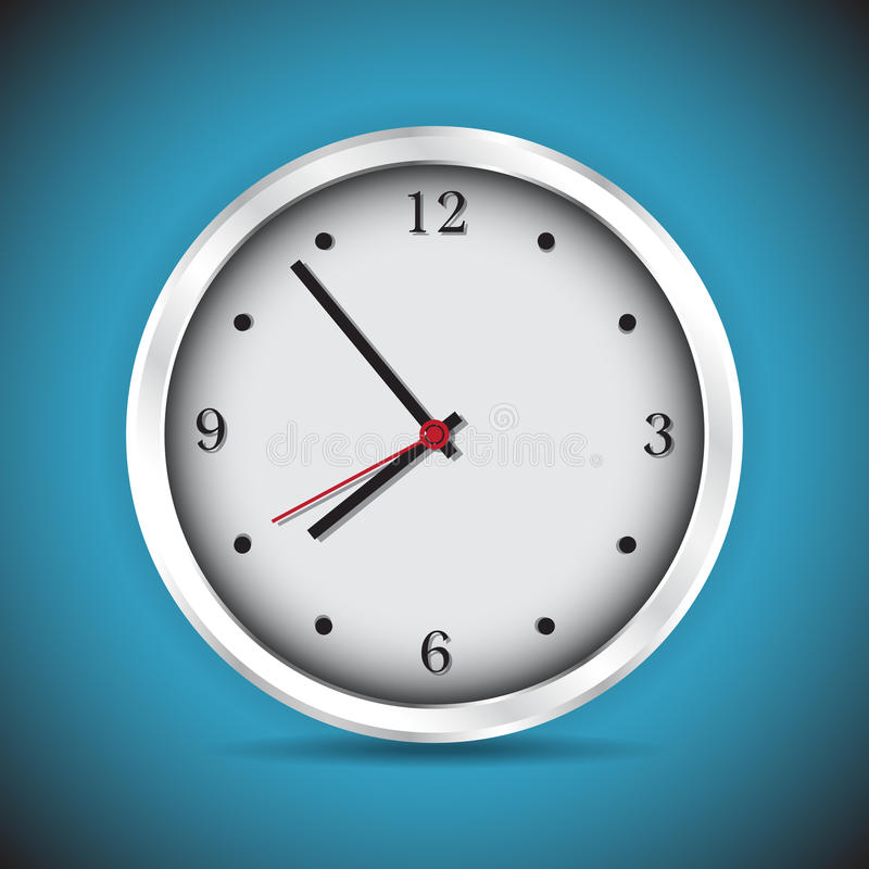 Modern analog clocks vector illustration