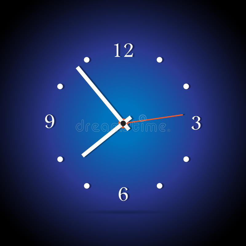Modern analog clocks stock illustration