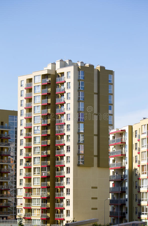 Free Modern And New Apartment Building. Royalty Free Stock Images - 21166689
