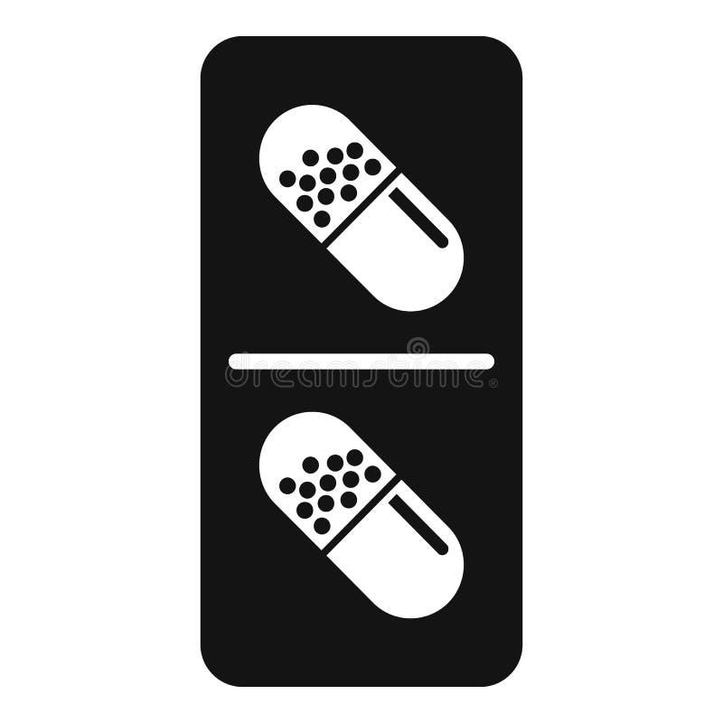 Modern antibiotisch capsulepictogram, eenvoudige stijl royalty-vrije illustratie