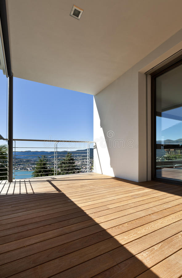 Modern apartment, balcony royalty free stock images