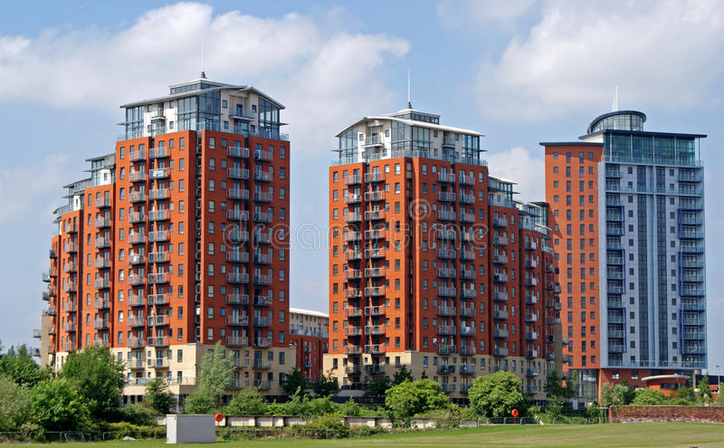Modern apartment blocks royalty free stock photography for Palazzine moderne