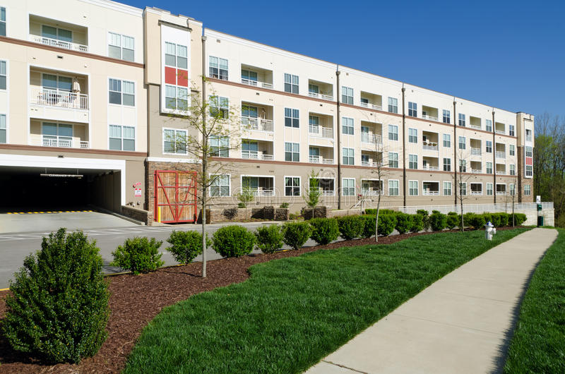 Download Modern apartment building stock image. Image of condos - 24052645