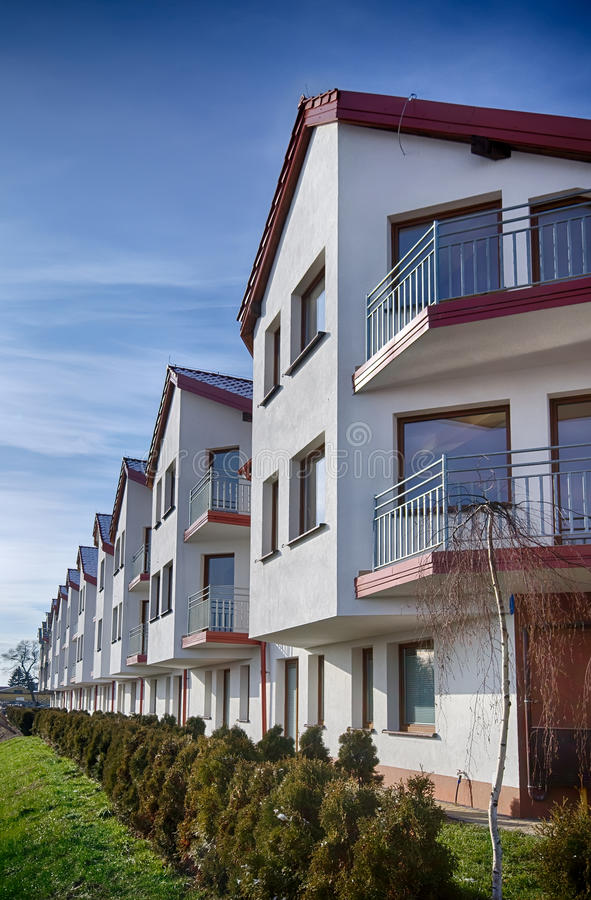 Download Modern apartment building stock photo. Image of long - 29208484