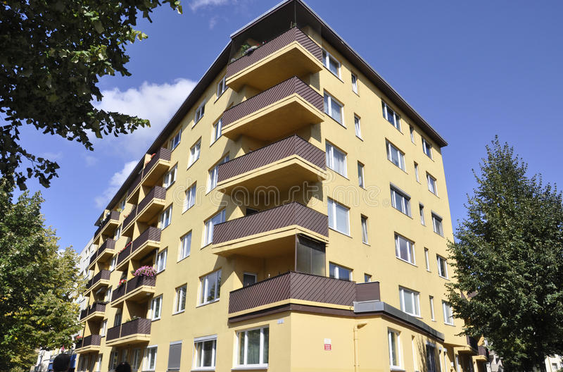 Modern Apartment Building from Berlin in Germany stock photography