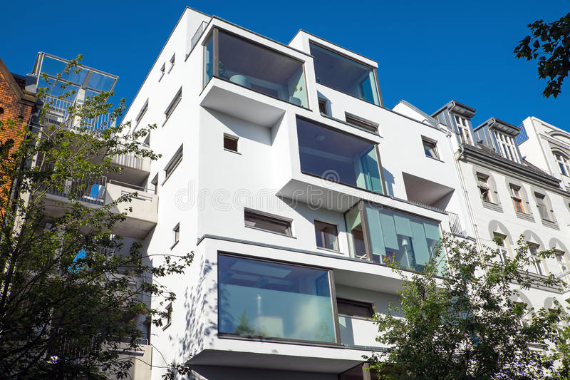 Modern Apartment Building In Berlin Stock Photo - Image of ...